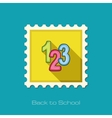 123 blocks flat stamp vector image