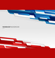 abstract header blue red and white shiny vector image vector image