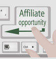 affiliate opportunity button business motivation vector image