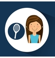 athlete girl racket tennis sport style vector image