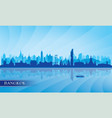 bangkok city skyline silhouette background vector image