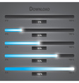 blue lights internet download bars set eps10 vector image