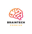 brain technology logo icon vector image
