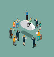 business isometric for technology cloud computing vector image