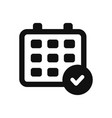 calendar and checked icon in modern design style vector image vector image