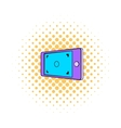 Camera viewfinder icon comics style vector image