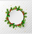 christmas background with decorative frame vector image