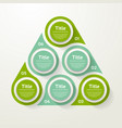 circle infographic template for cycle diagram vector image vector image