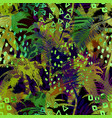 colourful trendy seamless exotic pattern with palm vector image vector image