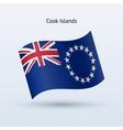 Cook Islands flag waving form vector image vector image
