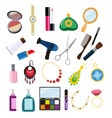 cosmetics and jewelry vector image