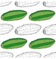 cucumbers vegetables black and white seamless vector image vector image