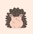 cute flat hedgehog cartoon character vector image vector image