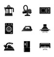 device at home icons set simple style vector image