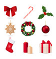 elements of christmas collection vector image vector image