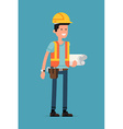Engineer Character Icon vector image vector image