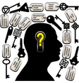 Find your keys vector image vector image