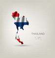 Flag of Thailand as a country vector image vector image