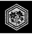 floral logo 10 grunge vector image vector image