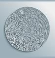 flower mandala paper cut handmade decoration vector image vector image