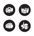Food and drinks black icons set vector image vector image