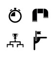 football soccer simple related icons vector image vector image