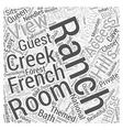 French Creek Ranch Word Cloud Concept vector image vector image
