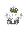 golf logo best est 1978 retro label for golf vector image vector image