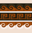 greek ancient patters with swirls and geometry