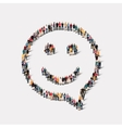 group people shape chat bubbles smile vector image vector image