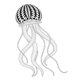 Hand drawn sea Jellyfish for adult coloring pages vector image vector image