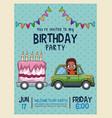 kids birthday invitation card vector image vector image