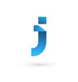 Letter J logo icon design template elements vector image vector image