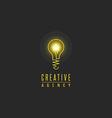 Light bulb logo lamp shine creative innovation