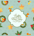 light winter holidays seamless pattern vector image