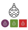 line icon of christmas tree decoration vector image vector image