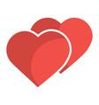 love hearts valentines day symbol vector image