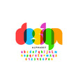 modern colorful font design alphabet letters and vector image vector image