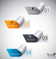 Modern paper infographics vector image vector image