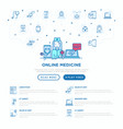 online medicine doctor consulting video call vector image