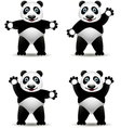 panda cartoon collection vector image vector image