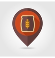 Sack of grain flat mapping pin icon vector image vector image