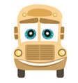 school bus cartoon character vector image