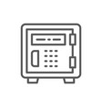 security metal safe line icon vector image