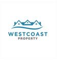 simple home logo design idea vector image vector image