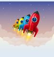 space rocket launch creative idea vector image vector image