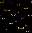 spooky monster eyes in dark halloween seamless vector image