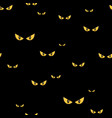 spooky monster eyes in the dark halloween seamless vector image