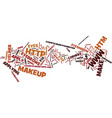 the art of make up text background word cloud vector image vector image