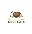 the nest cafe template vector image
